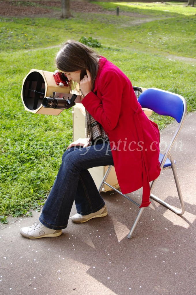 And of course, it is also possible to remain seated while observing a target low on the horizon.